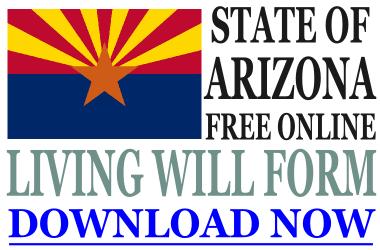Arizona Living Will Form