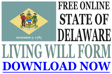 Delaware Living Will Form