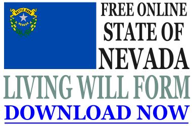 Nevada Living Will Form