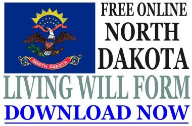 North Dakota Living Will Form