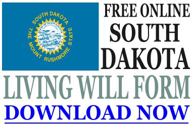 South Dakota Living Will Form